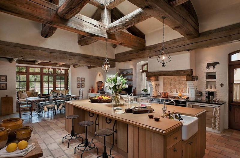 sink in island - Country Kitchen Remodels