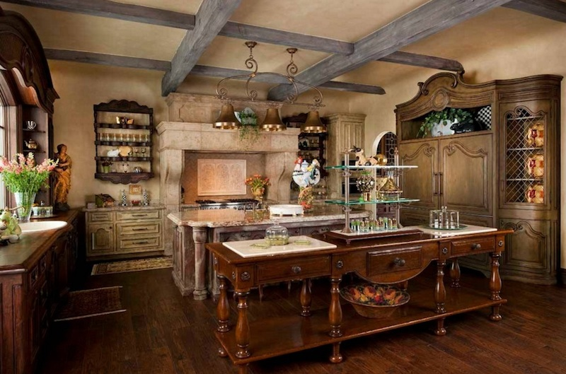 Rustic French Country Kitchen 5 cozy country kitchen ideas - venetian plaster -